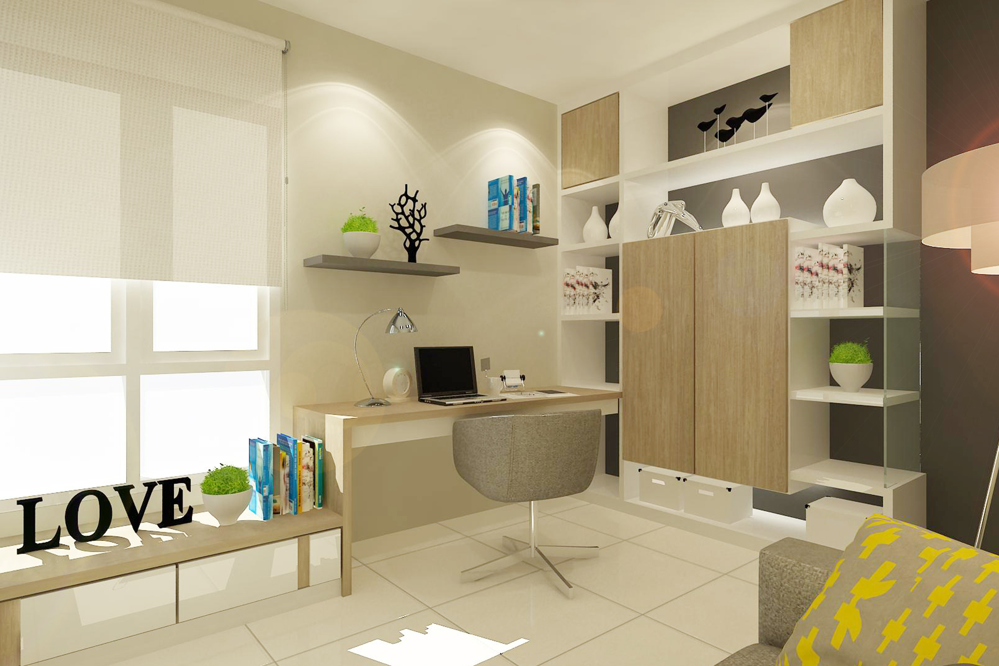 Study room in home design sdn bhd for Household contact study design